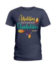 ABILITIES OUTWEIGH DISABILITIES Ladies T-Shirt thumbnail