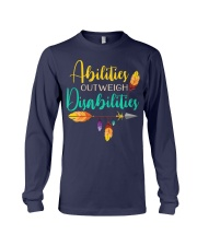 ABILITIES OUTWEIGH DISABILITIES Long Sleeve Tee thumbnail