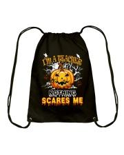 I'm a Teacher nothing scare me Drawstring Bag thumbnail
