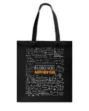 HAPPY NEW YEAR MATH TEACHER  Tote Bag tile