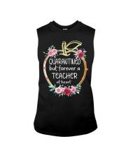 QUARANTINED - Teacher at heart Sleeveless Tee thumbnail