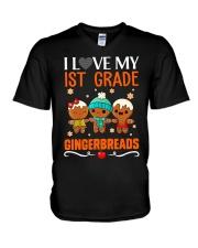 I LOVE MY 1ST GRADE GINGERBREADS V-Neck T-Shirt thumbnail
