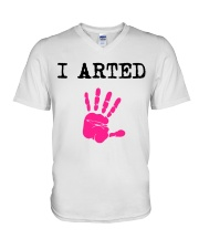 I Arted T-Shirt V-Neck T-Shirt thumbnail