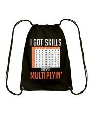 Math Teacher Drawstring Bag front