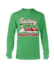 Teaching is snow much fun Long Sleeve Tee thumbnail