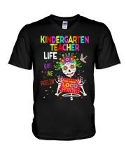 KINDERGARTEN TEACHER LIFE V-Neck T-Shirt thumbnail