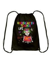 KINDERGARTEN TEACHER LIFE Drawstring Bag thumbnail