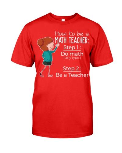 HOW TO BE A MATH TEACHER