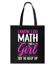 Math like a Girl Tote Bag thumbnail