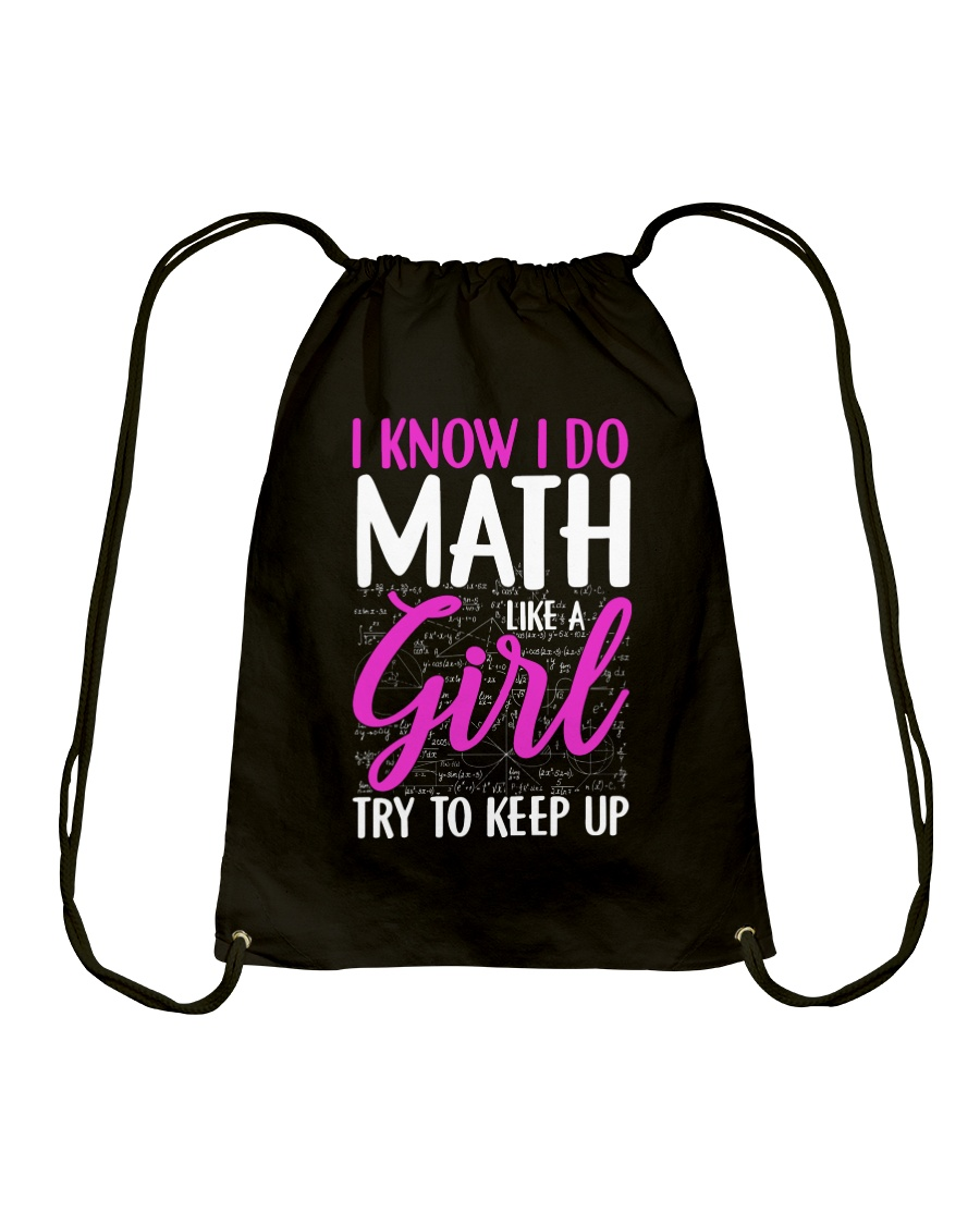 Math like a Girl Drawstring Bag