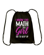Math like a Girl Drawstring Bag thumbnail