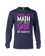 Math like a Girl Long Sleeve Tee thumbnail