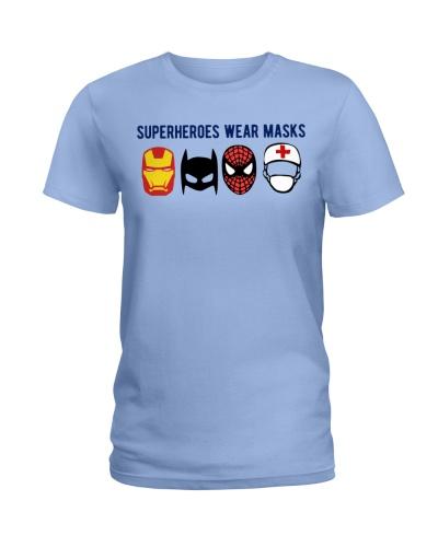 superheroes wear mask - nurse