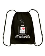 Hanitizer Teacherlife Drawstring Bag thumbnail