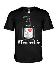 Hanitizer Teacherlife V-Neck T-Shirt thumbnail