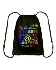 A Teacher who survived 2020 Drawstring Bag thumbnail