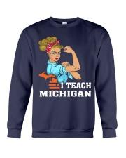 I TEACH MICHIGAN Crewneck Sweatshirt thumbnail