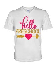 Hello Preschool V-Neck T-Shirt thumbnail