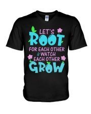 Let's root for each other watch each other grow V-Neck T-Shirt thumbnail
