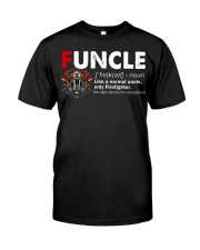 Funcle Firefighter Classic T-Shirt front
