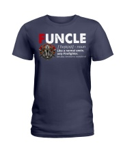 Funcle Firefighter Ladies T-Shirt thumbnail
