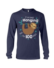 I'VE BEEN HANGING OUT FOR 100 DAYS Long Sleeve Tee tile