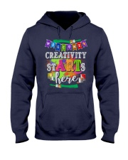 Creativity starts here T-Shirt Hooded Sweatshirt thumbnail