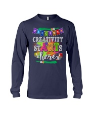 Creativity starts here T-Shirt Long Sleeve Tee thumbnail