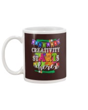 Creativity starts here T-Shirt Mug back