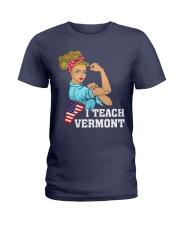 I TEACH VERMONT Ladies T-Shirt thumbnail