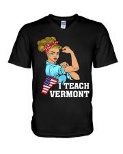 I TEACH VERMONT V-Neck T-Shirt thumbnail