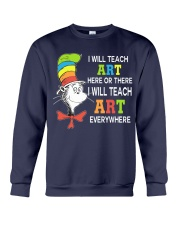 I WILL TEACH ART EVERYWHERE Crewneck Sweatshirt thumbnail