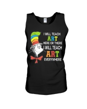 I WILL TEACH ART EVERYWHERE Unisex Tank thumbnail