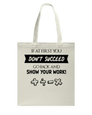 If at first you don't succeed Tote Bag thumbnail