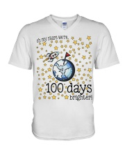 OH MY STARS WE ARE 100 DAYS BRIGHTER V-Neck T-Shirt thumbnail