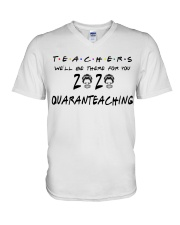 Teachers 2020 QUARANTEACHING V-Neck T-Shirt thumbnail