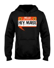 HELLO MY NAME IS HEY NURSE Hooded Sweatshirt tile