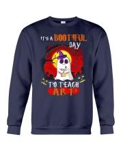 Bootiful day To Teach Art Crewneck Sweatshirt thumbnail