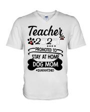 Teacher 2020 - Stay at home Dog Mom  V-Neck T-Shirt thumbnail