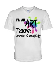 I'm an Art Teacher V-Neck T-Shirt thumbnail