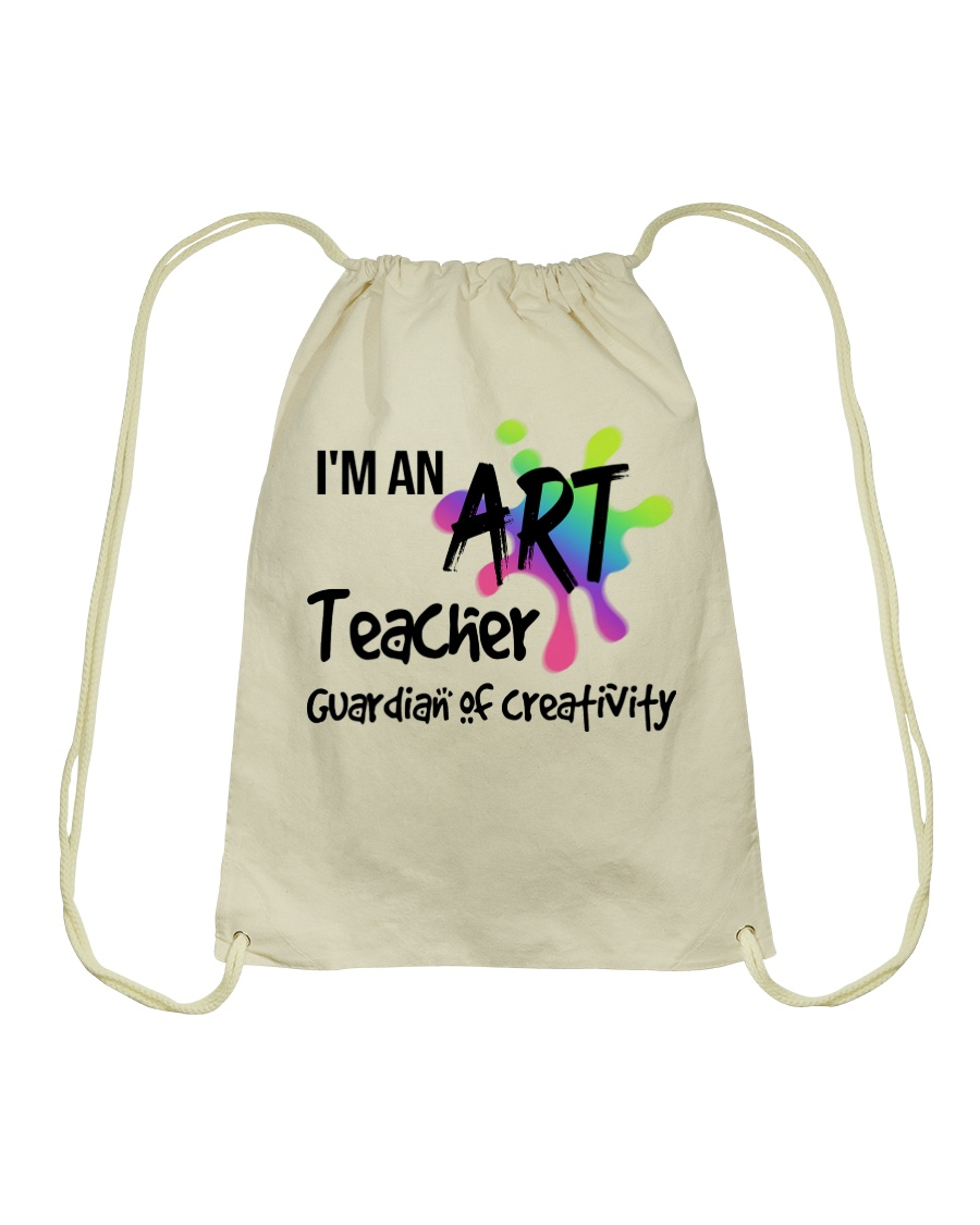 I'm an Art Teacher Drawstring Bag