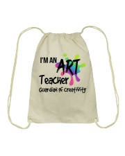I'm an Art Teacher Drawstring Bag tile