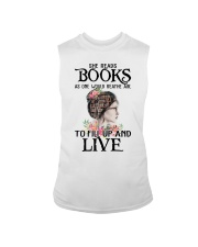 SHE READS BOOKS AS ONE WOULD REATHE AIR Sleeveless Tee thumbnail
