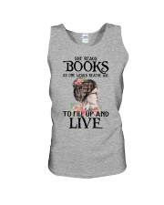 SHE READS BOOKS AS ONE WOULD REATHE AIR Unisex Tank thumbnail