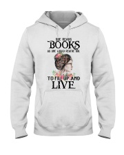 SHE READS BOOKS AS ONE WOULD REATHE AIR Hooded Sweatshirt thumbnail