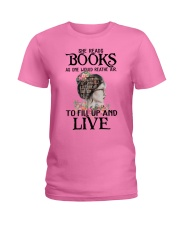 SHE READS BOOKS AS ONE WOULD REATHE AIR Ladies T-Shirt thumbnail