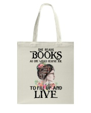 SHE READS BOOKS AS ONE WOULD REATHE AIR Tote Bag thumbnail