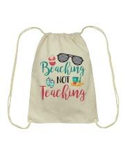 Beaching not Teaching Drawstring Bag thumbnail