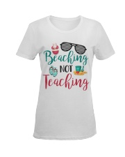Beaching not Teaching Ladies T-Shirt women-premium-crewneck-shirt-front