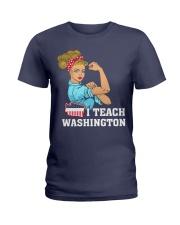 I TEACH WASHINGTON Ladies T-Shirt thumbnail